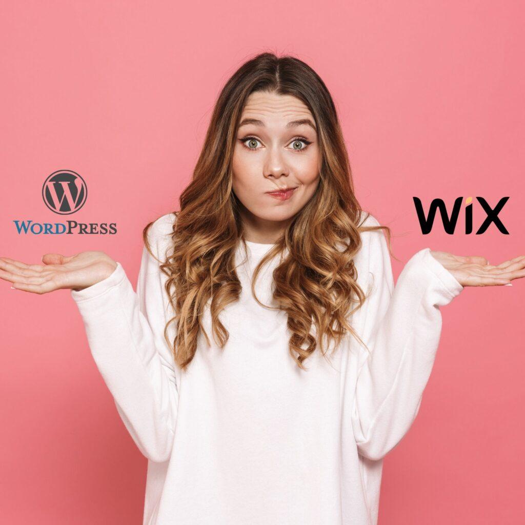 wordpress ou wix